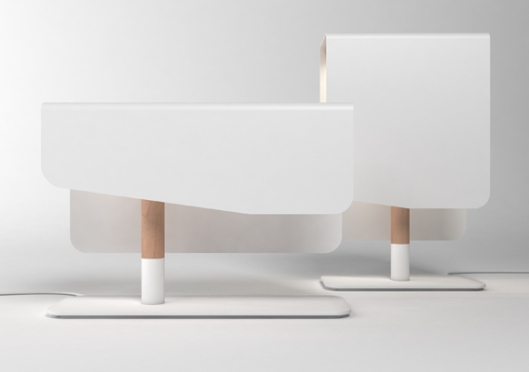 florent degorc white table lamps