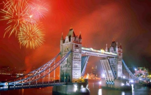 happy new year 2015, london