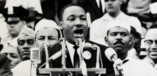 I have a dream speech, MLK at podium