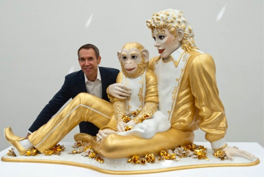 jeff koons, banality series, porcelain, michael jackson and bubbles