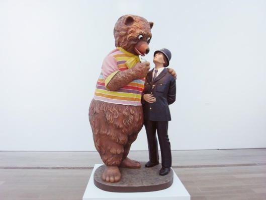 jeff koons, bear and policeman
