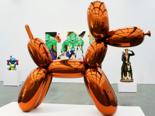 ballon dog, orange by jeff koons