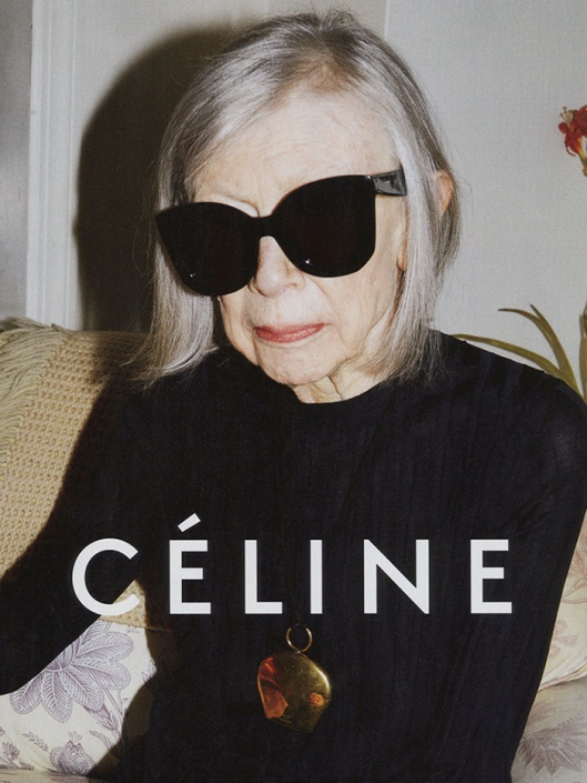 Joan Didion, new face of Celine