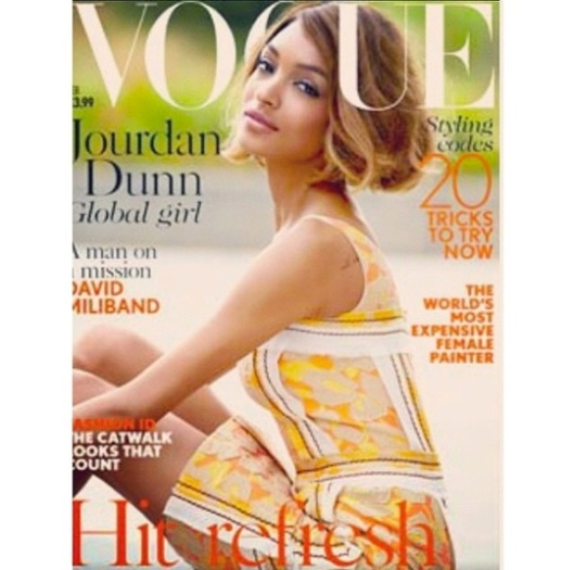 Jourdan Dunn, British Vogue, Feb 2015 cover