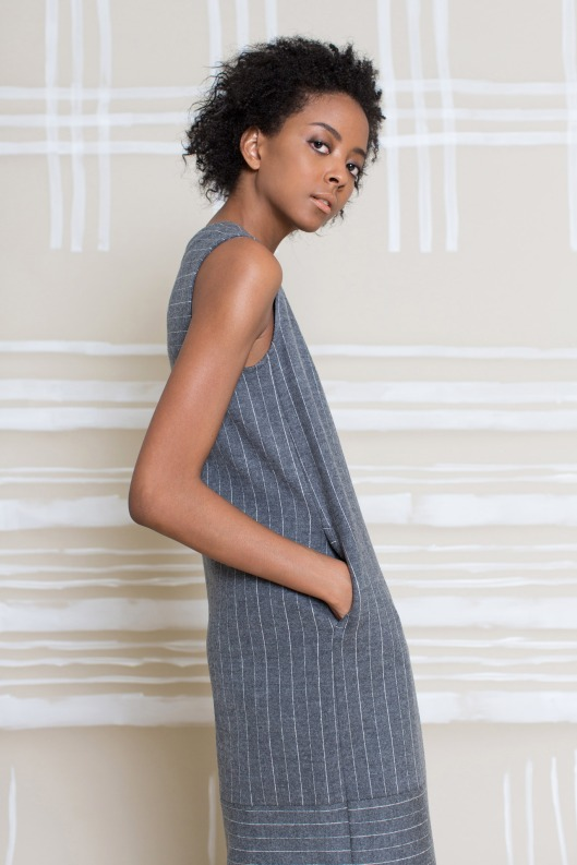 mpatmos, prefall 2015, pinstripe, sleeveless, sack dress