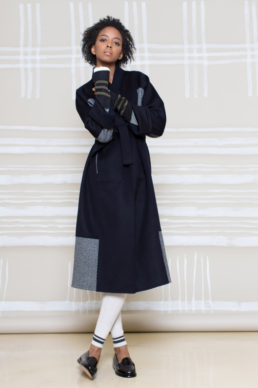 m patmos, prefall 2015, wool coat, simple patchwork