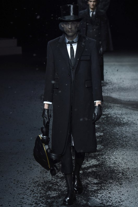 paris, fall 2015, tom browne, men, funeral