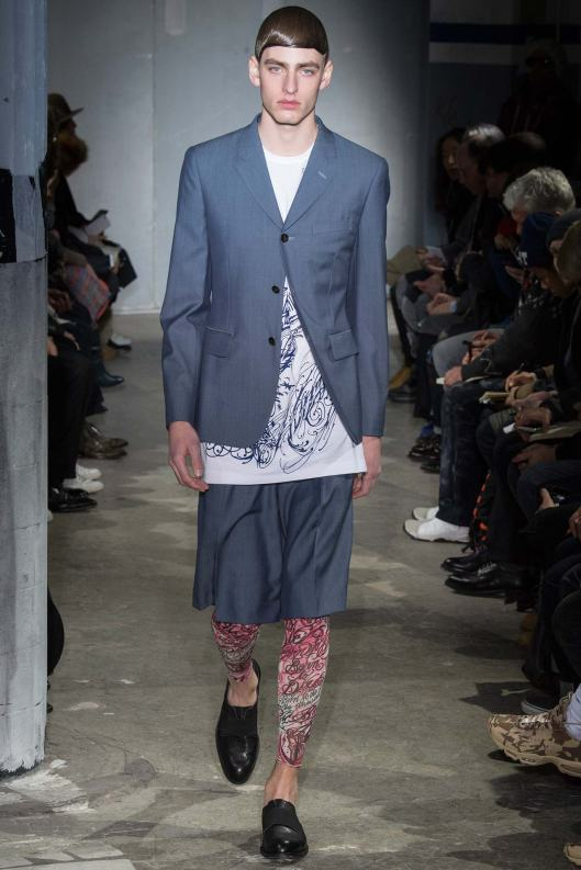 paris, men, comme des garcons, coloured, patterned leggings