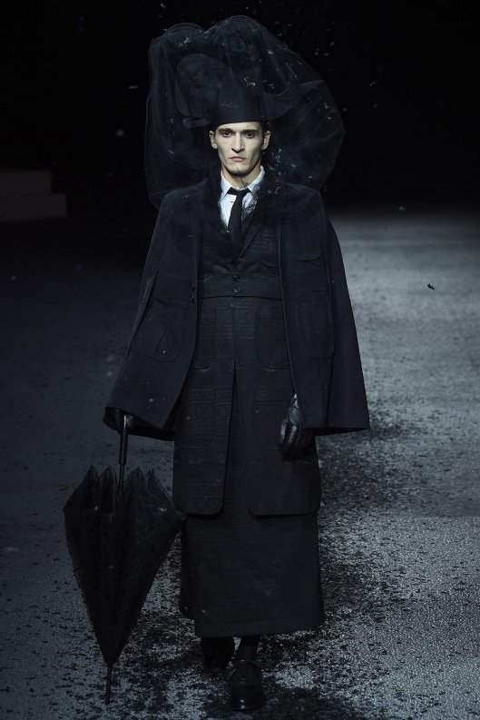 Paris, fall 2015, men, thom browne, funeral