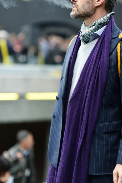 pitti uomo, fall 2015, scarf fashion, double duty