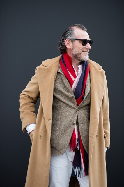 pitti uomo, scarf fashion,