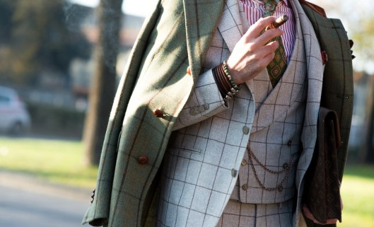 pitti uomo, fall 2015, windown pane pattern suit