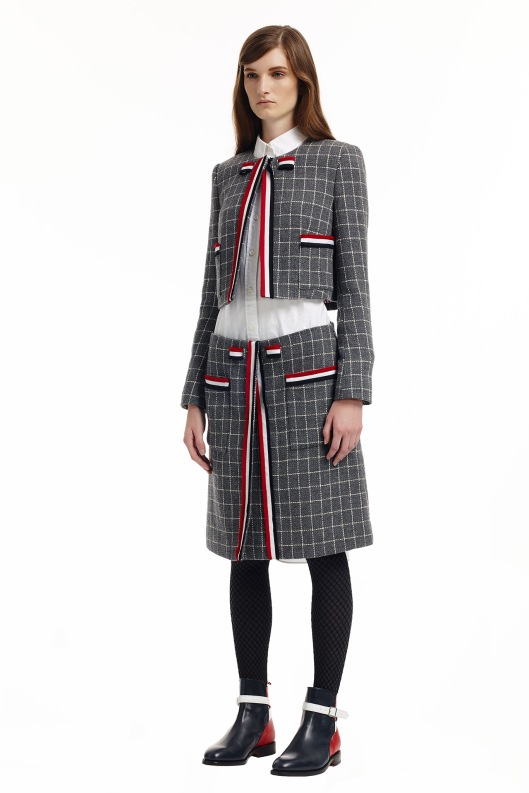 prefall 2015, cropped jacket, white shirt exposure Thom_Browne_06_1366