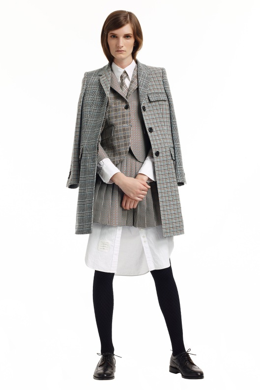 prefall 2015, skirt suiting, thom browne
