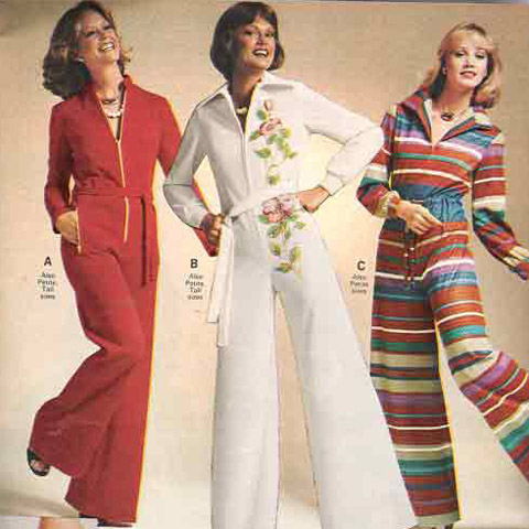 jumpsuit, ladies, 70s