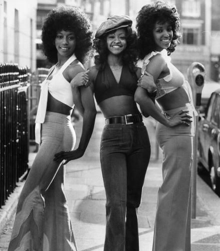 ladies in flares, cropped tops