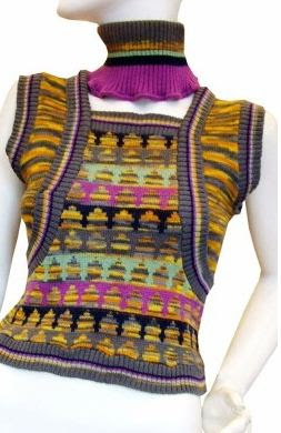 bill gibb and kaffe fassett, vest, knit