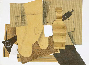 braque, collage, intstruments, music, 1918