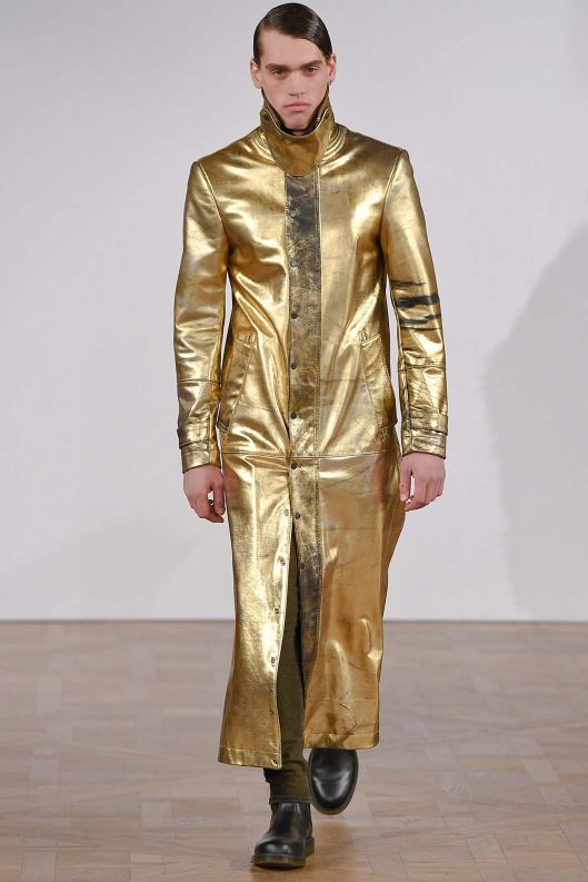 copenhagen fall 2015, asger juel larsen, men, gold ankle length coat