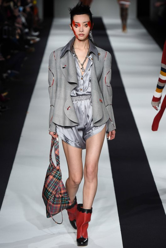 LFW, a15, vivienne westwood, grey short trouser set