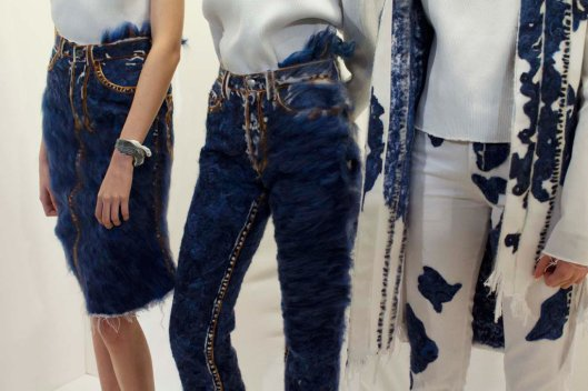 LFW, a15, fastine steinmetz, trio of denim finishes