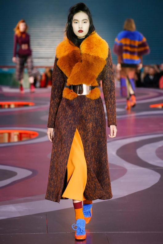 roksanda, a15, mustard/brown coat, statement belt