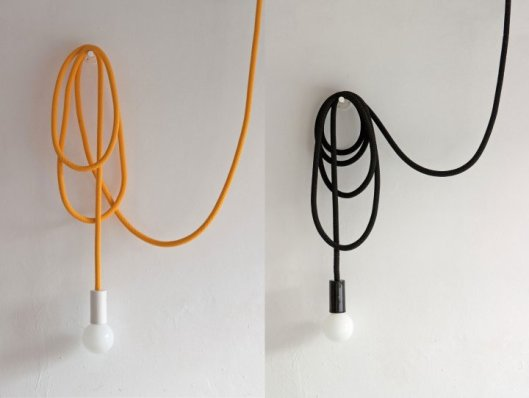 lighting, magda jurek, loop line, black or yellow rope