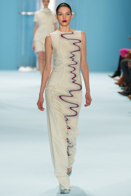 nyfw, a15, carolina herrera, seismic wave