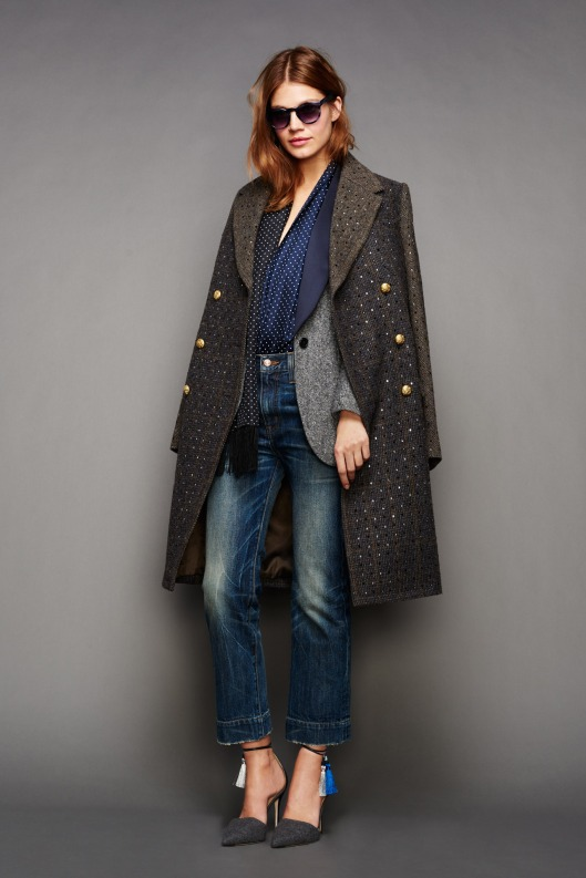 NYFW, a15, j-crew, denim, layered look with masculine vibe 028-1366