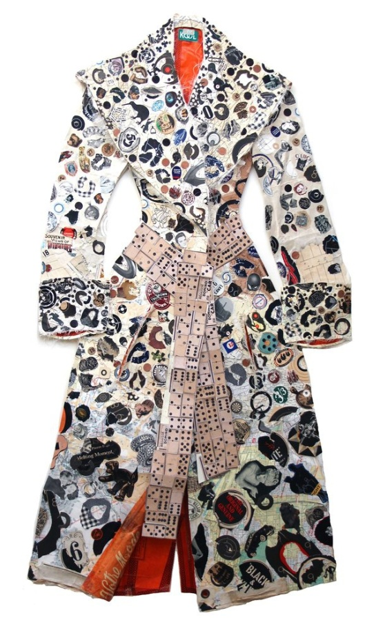 peter clark, coat with many spots