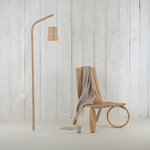 tom raffield, floor lamp