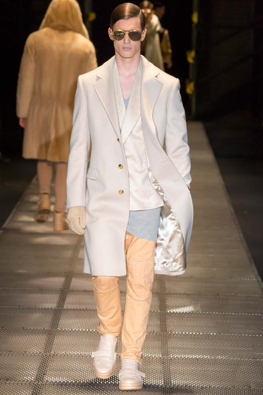 winter whites, overcoat, men, versace, f 2015