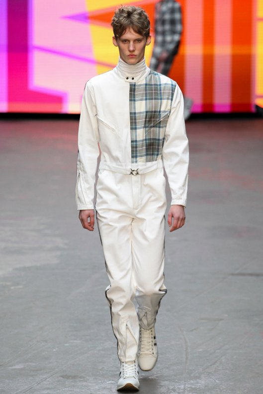winter whites, topman design, men, boiler suit/ plaid detail , f 2015
