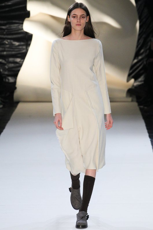 winter whites, damir doma, ladies dress