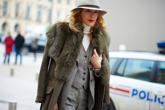 winter white, fedora, lady