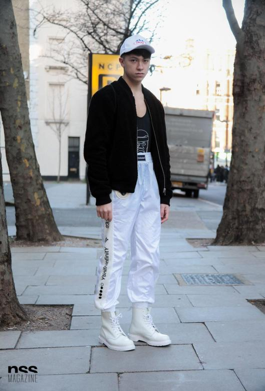 winter whites, silk joggers, photo from nss.com