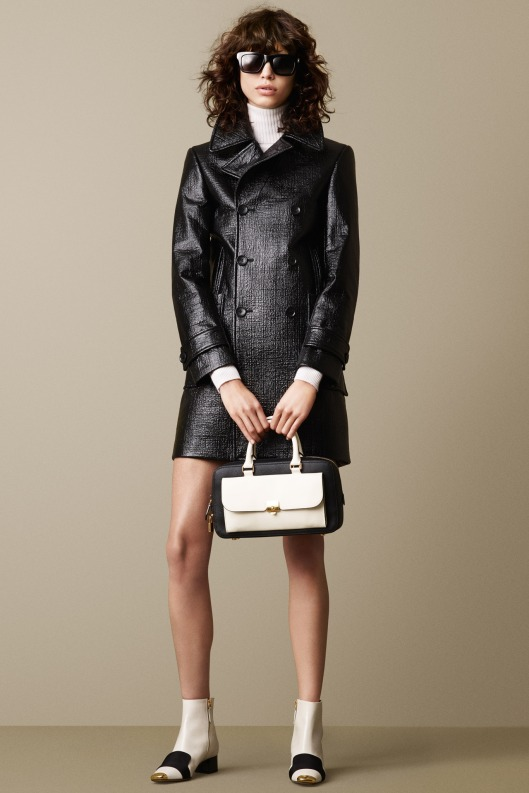 bally, a15, leather, black, mini coat