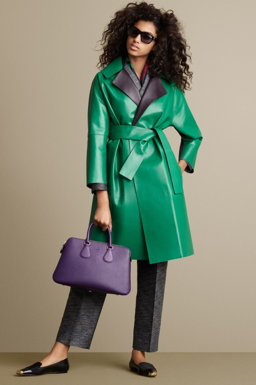 bally, a15, leather, green, overcoat