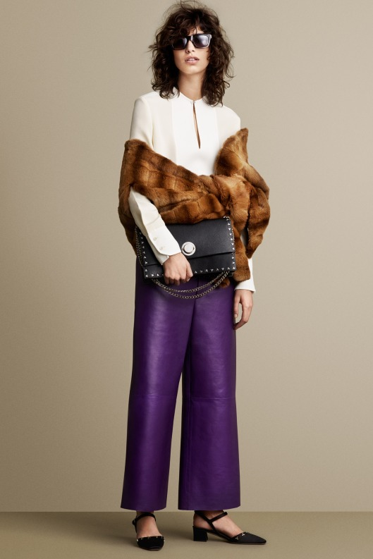 bally, a15, leather, purple, trousers