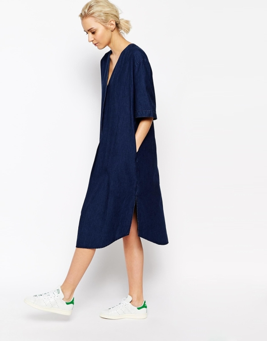 denim dress, from weekday,