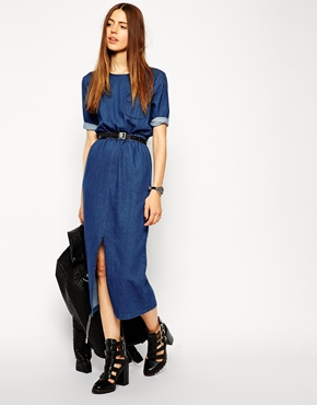 denim t shirt dress, asos