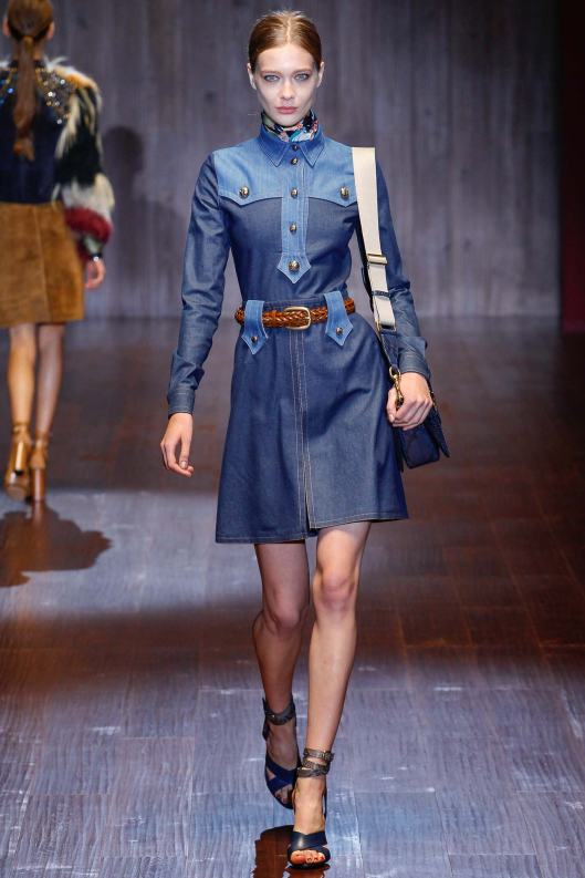 denim dress, ss 15 gucci
