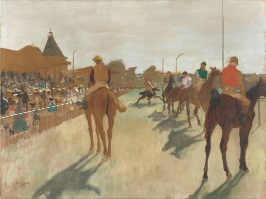 inventing Impressionism, horses before the stands, edgar degas, 1866 -68 art fund.org-X8550