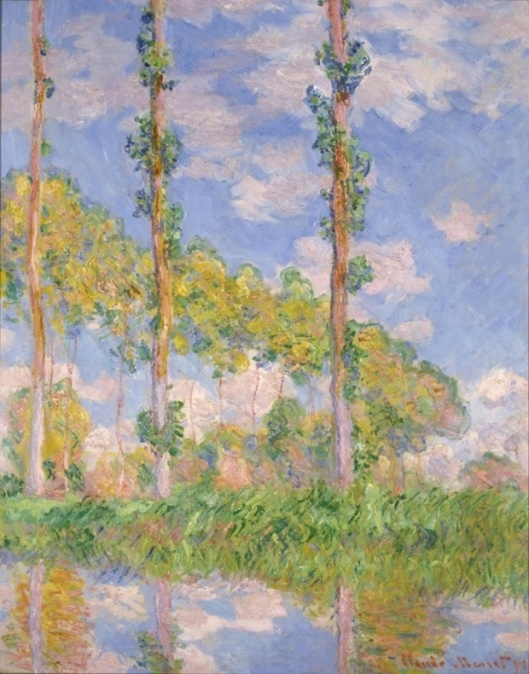 Inventing impressionism, popars in the sun, 1891, claude monet, theguardian 516ff4dc-fb68-46d4-bd77-87d20d82369c-800x1020