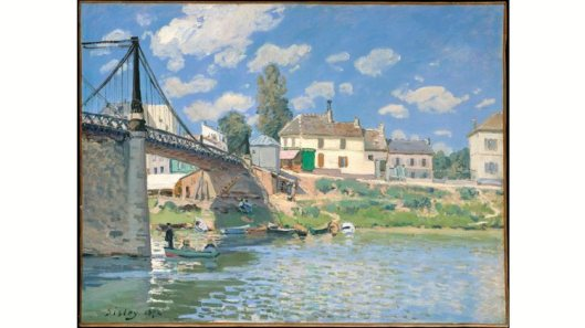 inventing impressionism, the bridge at villenueve-la-garenne, 1872, time out image
