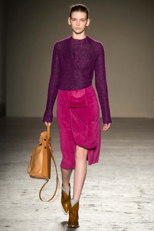 mfw, a15, gabriele colangelo, raspberry shades and caramel accessories