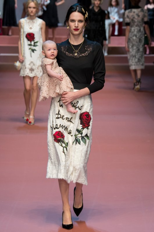 mfw, dolce & gabbana, celebrating motherhood