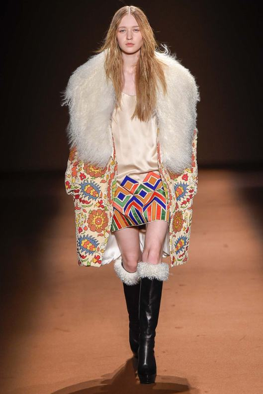 PFW, a15, andrew gn, fur trimmed colour fun