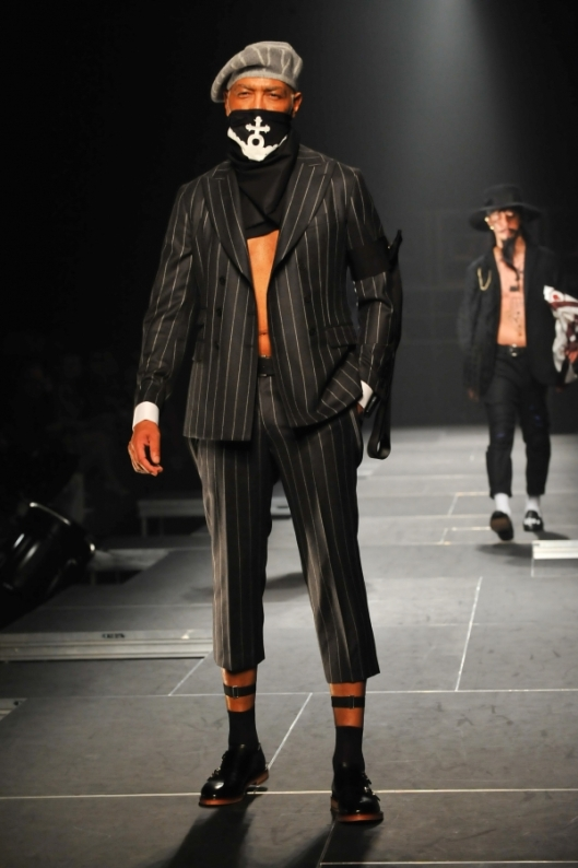 takeo kikuchi, a15, men, hats, gangster stripes