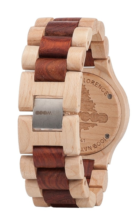 wewood, watch, back